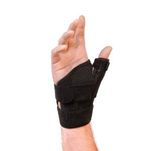 Mueller Reversible Thumb Stabilizer, Black, One Size Fits Most   Stabilizing Thumb Brace