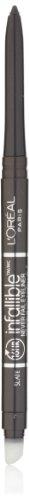 L'Oreal Paris Makeup Infallible Never Fail Original Mechanical Pencil Eyeliner with Built in Sharpener, Slate, 0.008 oz.