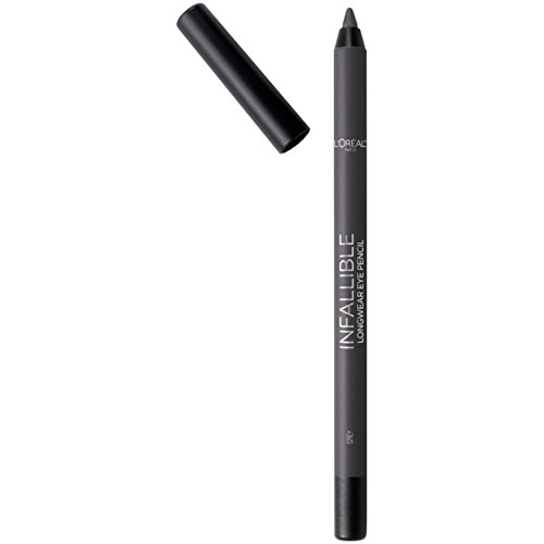 L'Oreal Paris Makeup Infallible Pro-Last Pencil Eyeliner, Waterproof & Smudge-Resistant, Glides on Easily to Create any Look, Grey, 0.042 Oz.