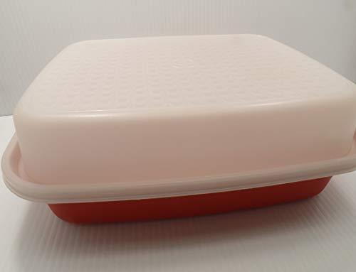 Vintage Tupperware Season Serve Marinade Keeper Container ~ Paprika