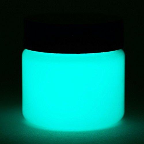 Glow In The Dark Paint - Premium Artist's Acrylic - Neutral Colors - 1 Ounce (Neutral Aqua)