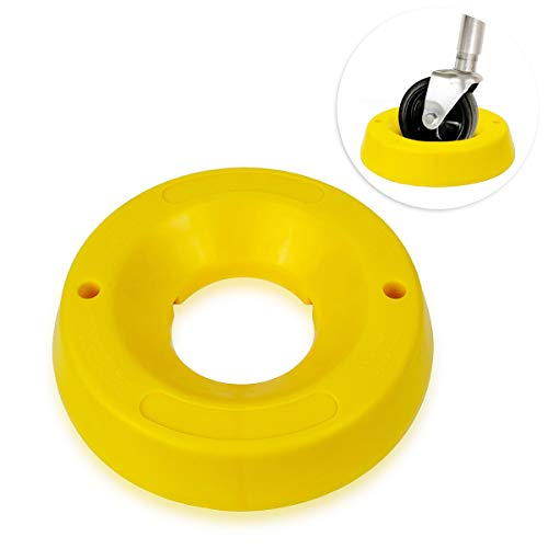Zone Tech Trailer Jack Wheel Dock - Premium Quality Heavy Duty Highly Visible Yellow Travel Doughnut Chock for Trailer Tongue Jack Wheel-Preventing Wheel from Movement or Sinking into Mud