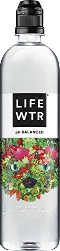 LIFEWTR Premium Purified Water, pH Balanced with Electrolytes For Taste, 23.7 Fl Oz Flip Cap Bottles, 700 mL (12 Count)