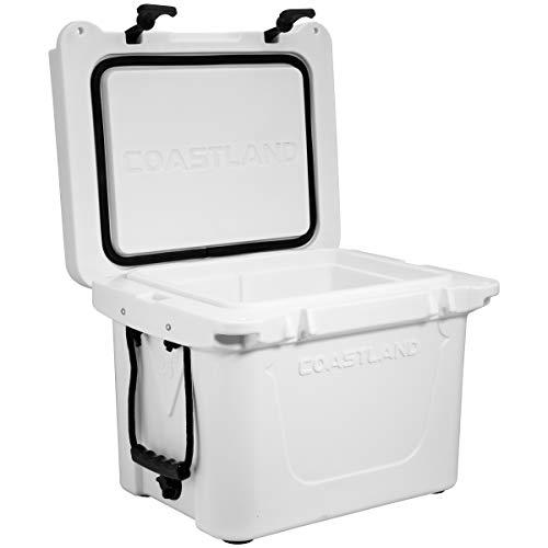 Coastland Delta Series 25 Quart Cooler, Premium Everyday Use Insulated Cooler White