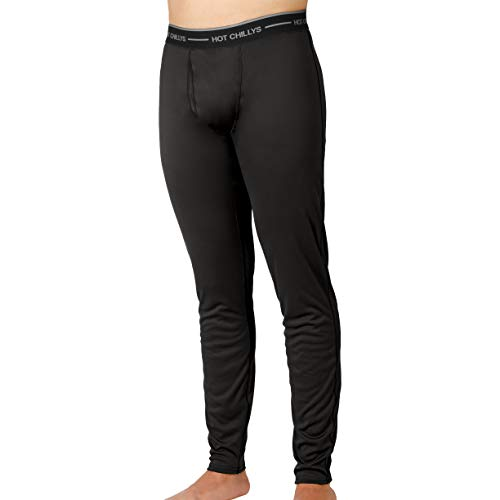 Hot Chillys Men's Peach Fly Bottom (Black, Large)