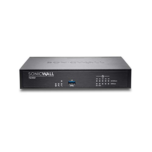 SonicWall TZ350 Network Security Appliance Bundle with Firewall SSL VPN 5 User License for Home and Office Use (02-SSC-0942+01-SSC-8630)
