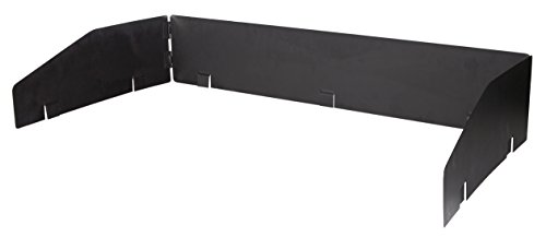 Stansport 2-Burner Cast Iron Windscreen, Black
