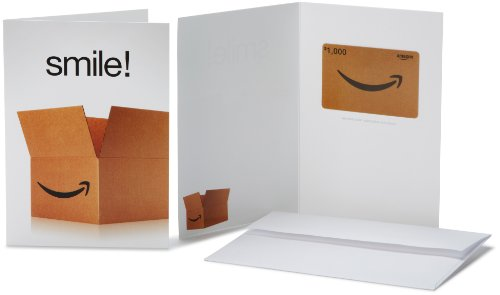 Amazon.com $1000 Gift Card in a Greeting Card (Smile! Design)