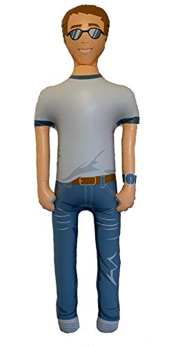 FUN delivery Man Akin: Inflatable Talking Boyfriend Husband, Funny Gifts for Women, Bachelorette Party, Valentines