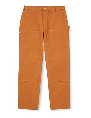 Carhartt Men's Loose Fit Firm Duck Double-Front Utility Work Pant-Carhartt Brown-34 x 30