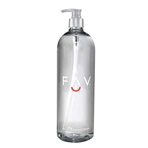 FAV Water Based Luxury Personal Lubricant, 33.5 Fl Oz
