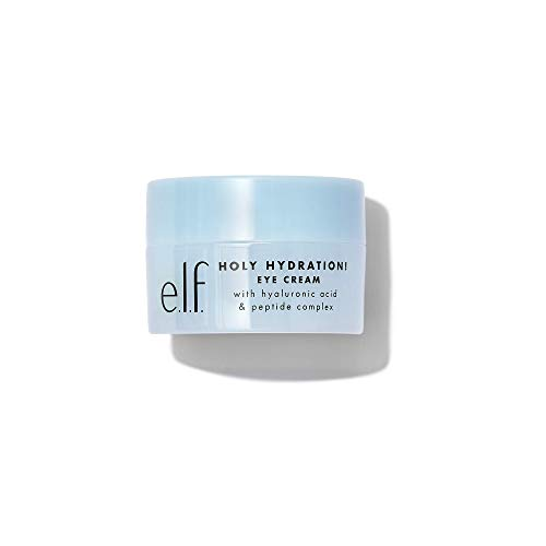 e.l.f. Holy Hydration! Eye Cream   Infused with Hyaluronic Acid & Peptides   Minimizes Dark Circles   0.53 Oz (15g)