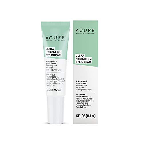 ACURE Ultra Hydrating Eye Cream | 100% Vegan | Intense Moisture for Super Thirsty Skin | Adaptogens & Green Coffee - Deeply Moisturizes | 0.5 Fl Oz