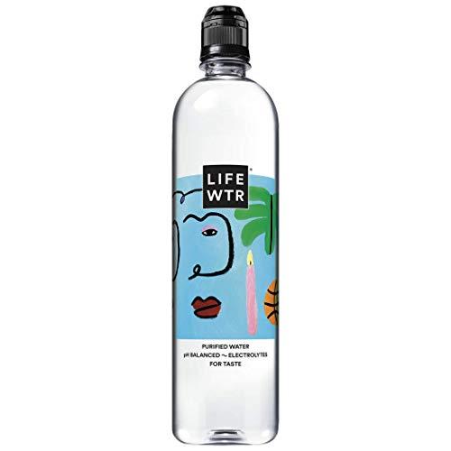 LIFEWTR, Premium Purified Water, pH Balanced with Electrolytes, Flip Cap Bottle, 700 mL