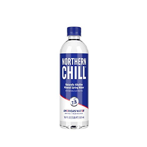 Northern Chill, 16.9oz, 12 pack, Naturally Alkaline Mineral Spring Water, Naturally Filtered Minerals & Electrolytes, BPA Free PET Bottles, This is America's Water