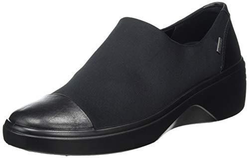 ECCO womens Soft 7 Wedge Gore-tex Slip on Sneaker, Black/Black, 4-4.5 US