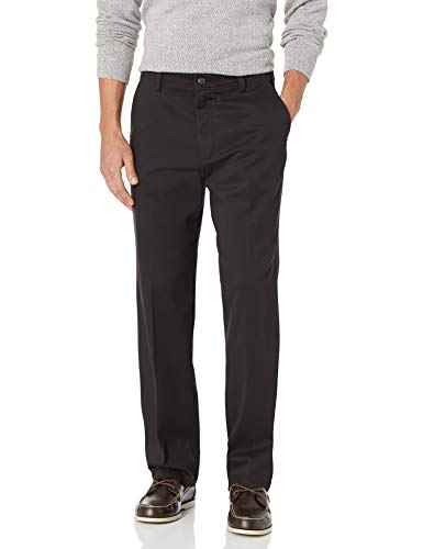 Dockers Men's Classic Fit Easy Khaki Pants D3, Black (Stretch), 34 32