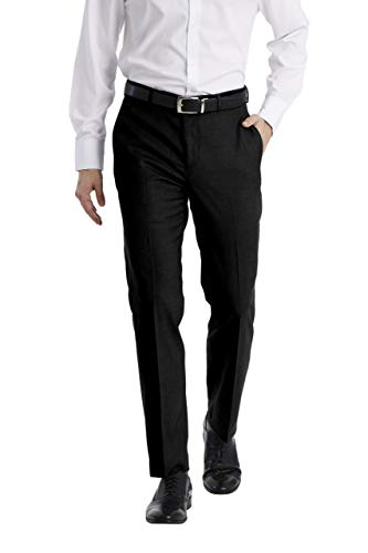 Calvin Klein Men's Slim Fit Dress Pant, Black, 34W x 32L