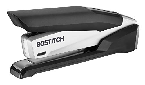 Bostitch inPOWER+28 Executive Stapler - 3 in 1 Stapler - One Finger, No Effort, Spring Powered Stapler, Black/Silver (1110)