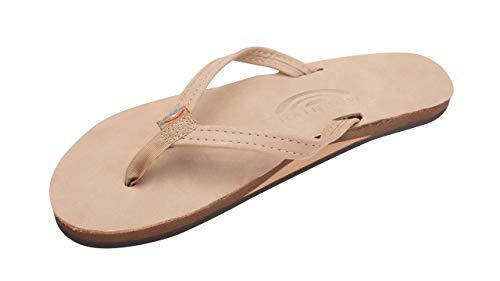 Rainbow Sandals Women's Narrow Strap Womens, Sierra Brown, Large (7.5 - 8.5)