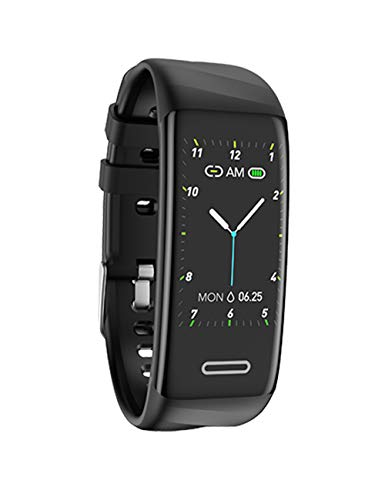 ANSGEC Fitness Tracker HR, Activity Tracker Watch with Blood Pressure Monitor,Smart Fitness Band with Step Counter, Calorie Counter, Sleep Monitor, IP67 Water Resistant Smart Bracelet (Black)