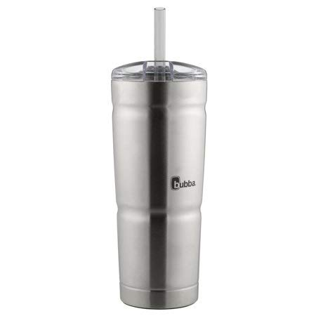 Bubba Envy S Vacuum-Insulated Stainless Steel Tumbler Straw, 24 oz, Clear Lid