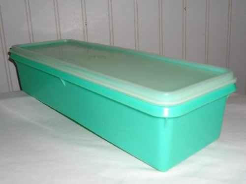Tupperware Vintage Jadite Green Produce Thin-stor Celery Storage with Frosted Seal #892 Vegetable Crisper Keeper