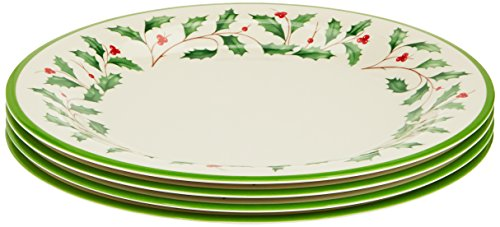 Lenox Holiday 4-Piece Melamine Dinner Plate Set