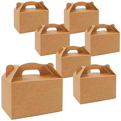 Moretoes 36 Pack Brown Goodies Boxes Dessert Boxes Treat Boxes Gable Boxes Kraft Party Favor Boxes Birthday 6 x 3.5 x 3.5 inches