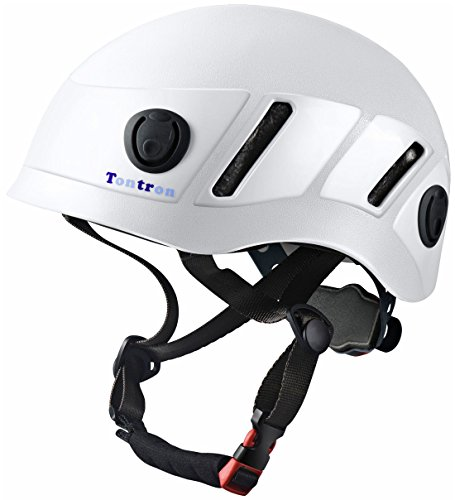 Tontron Climbing Caving Helmet (White, Large)