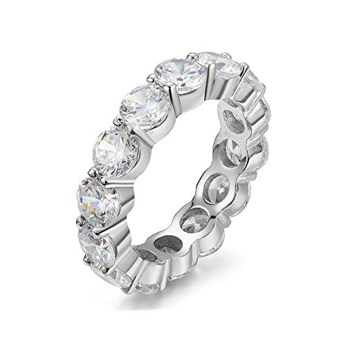 5.00mm 925 Sterling Silver Cubic Zirconia Fashion Ring - Eternity, Engagement, Wedding Band (7)