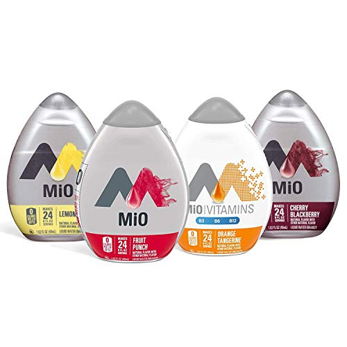 Mio Liquid Water Enhancer Variety Pack, 1 Orange Tangerine, 1 Fruit Punch, 1 Lemonade, 1 Cherry Blackberry, 4 CT
