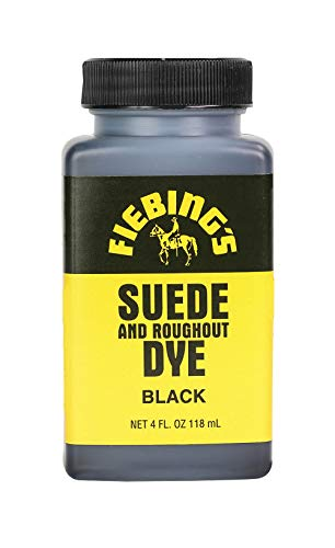 Fiebing's Suede Dye - Recolor, Brighten and Restore Suede and Rough-out Leather - Black