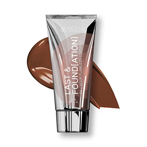 Wunder2 24+ Hour Liquid Full Coverage Waterproof with Hyaluronic Acid Last and Foundation Makeup, Espresso Color, 1.01 Fl Oz