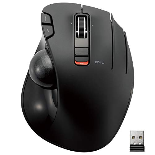 ELECOM 2.4GHz Wireless Thumb-Operated Trackball Mouse, 6-Button Function with Smooth Tracking, Precision Optical Gaming Sensor (M-XT3DRBK)