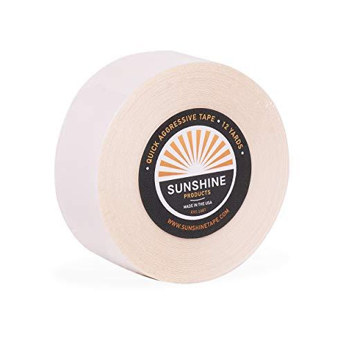 Sunshine Tape | Quick Aggressive Wig Adhesive Tape Roll | 1' x 12 YDS | Premium Hair Toupee Tape
