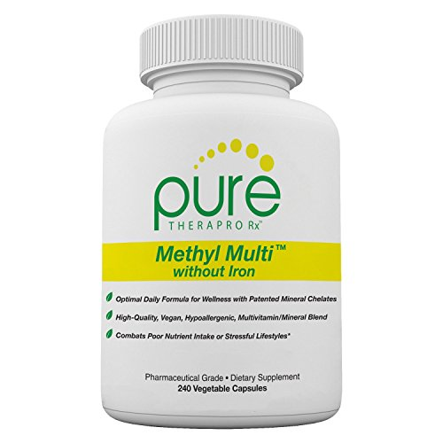 Methyl Multi Without Iron - 240 Vegetable Capsules | This Vegan Formula Features Activated Vitamin Cofactors and Folate as Quatrefolic (5-MTHF) | Patented Albion TRAACS Chelated Mineral Complexes