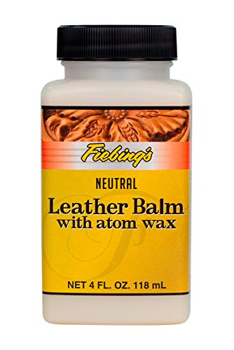 Leather Balm with Atom Wax Neutral, 4 oz.