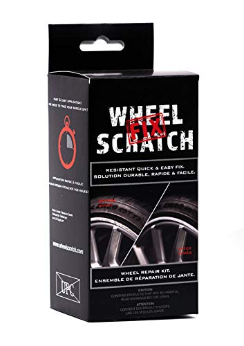 Wheel Scratch Fix Quick and Easy Wheel Touch Up Kit Universal Colors (Black (Gloss))