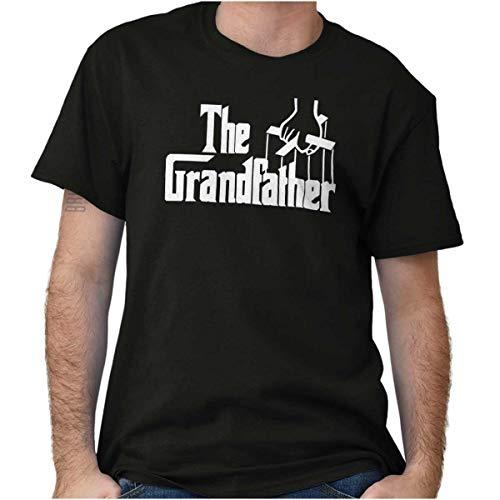 Brisco Brands Grandfather Italian Mafia Puppet Crewneck Tees T Shirt Men Black