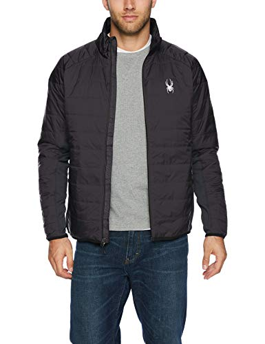 Spyder Men's Glissade Full Zip Primaloft Insulator Jacket, Black/Black/Black, Small