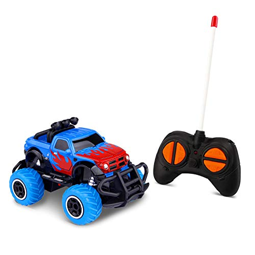Toddlers Boys Toys for 4-5 Year Olds Kids RC Car Gifts Remote Control Trucks for 3-4 Year Old Boys, Xmas Present Preschool Toys Cars RWD 1/43 Scale (Blue RAM)