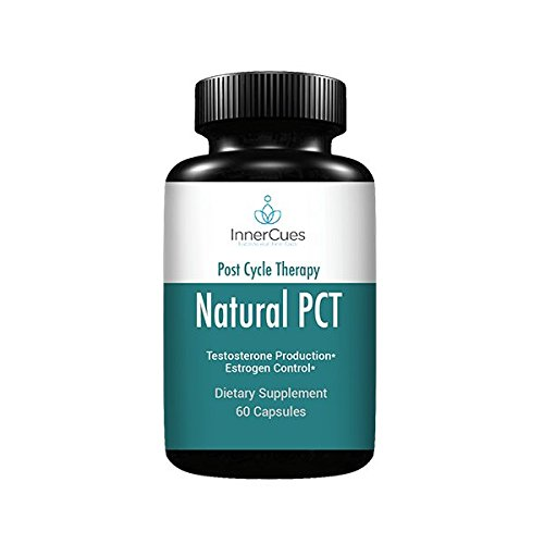 InnerCues -Natural Post Cycle Therapy - PCT Supplement with Estrogen Blocker for Men, Testosterone Booster and Liver Support - Contains Fenugreek, Chrysin, Milk Thistle, Tongkat Ali and More - 60 Caps