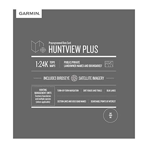 Garmin Huntview Plus, Preloaded microSD Cards with Hunting Management Units for Garmin Handheld GPS Devices, Iowa