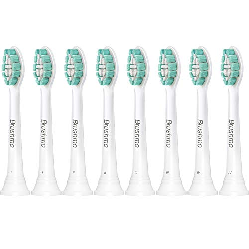 Brushmo Replacement Toothbrush Heads Compatible with Phillips Sonicare Electric Toothbrush, 8 Pack