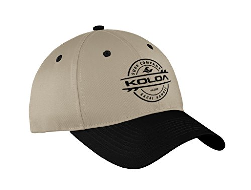 Joe's USA Koloa Surf Thruster Logo Old School Curved Bill Solid Snapback Hat -BlackTanBlack