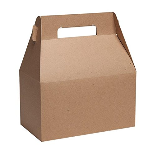 Gable Boxes, X-Large 9x5x10 Size, Set of 6 (Natural Kraft)