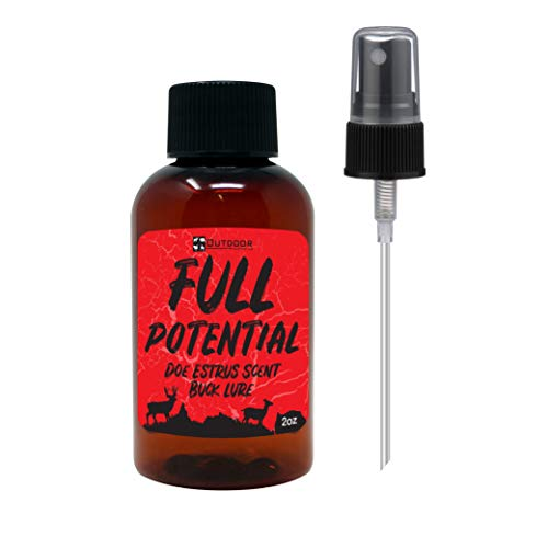 Outdoor Hunting Lab Full Potential Doe Estrus Scent 2 oz [1 Bottle Pack] - Real Whitetail Deer Urine - Buck Lure for Hunting, Deer Attractants and Scents