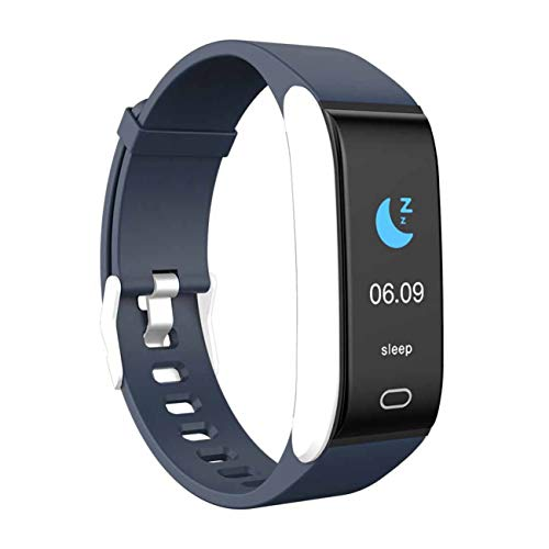 Laxcido Fitness Tracker HR, Activity Watch with Blood Pressure Heart Rate Sleep Monitor 14 Mode, Pedometer Step Counter Call SMS Notification Calorie Waterproof Bracelet Tracking for Women Men (Blue)