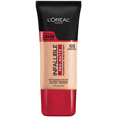 L'Oreal Paris Makeup Infallible Pro-Matte Liquid Longwear Foundation, 103 Natural Buff, 1 fl; oz.